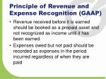 principle of revenue and expense recognition gaap