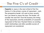 the five c s of credit
