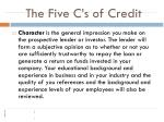 the five c s of credit4