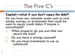 the five c s1