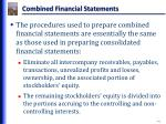 combined financial statements1