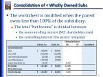 consolidation of wholly owned subs