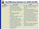 key differences between u s gaap and ifrs