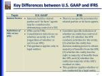 key differences between u s gaap and ifrs1
