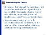 parent company theory