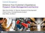 enhance your customer s experience prospect order management and service