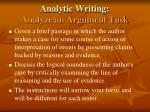 analytic writing analyze an argument task