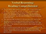 verbal reasoning reading comprehension