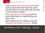 the nature of m teaching results3