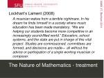 the nature of mathematics treatment