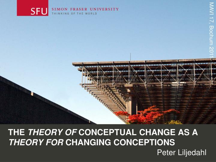 the theory of conceptual change as a theory for changing conceptions n.