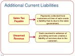 additional current liabilities