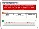 bond retirement