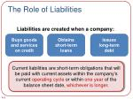 the role of liabilities