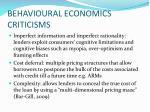 behavioural economics criticisms