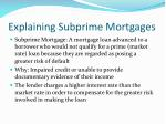 explaining subprime mortgages