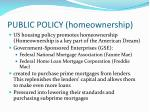public policy homeownership