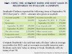 s8 12 using the acid test ratio and days sales in receivables to evaluate a company