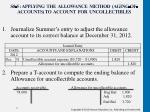 s8 5 applying the allowance method aging of accounts to account for uncollectibles1