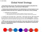 global hotel strategy