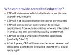 who can provide accredited education