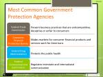 most common government protection agencies