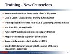 training new counselors