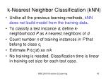 k nearest neighbor classification knn