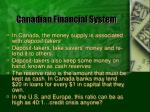 canadian financial system