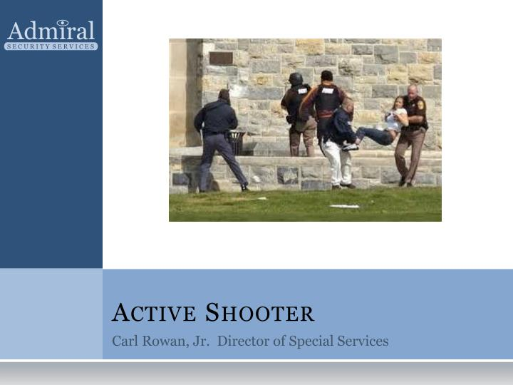 active shooter n.