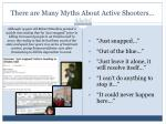 there are many myths about active shooters