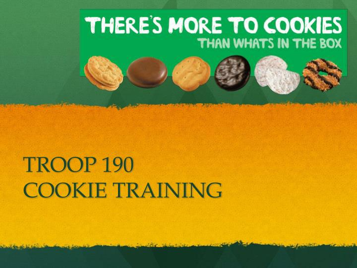 troop 190 cookie training n.