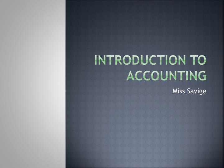 introduction to accounting n.