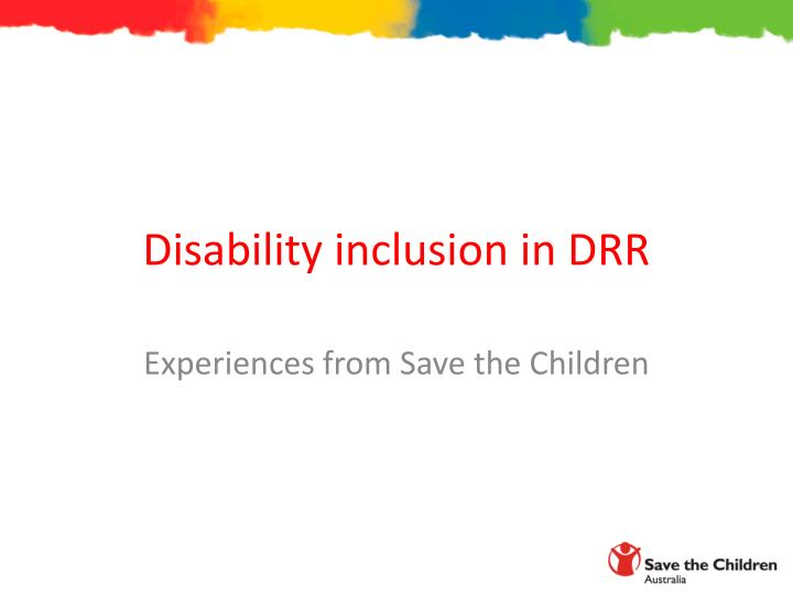 disability inclusion in drr n.