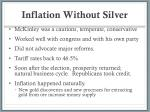 inflation without silver