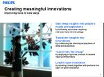 creating meaningful innovations improving lives in new ways