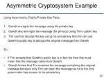 asymmetric cryptosystem example