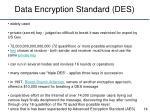 data encryption standard des