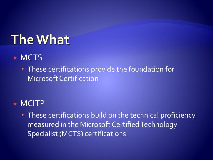 Ppt Microsoft Project Certification Powerpoint Presentation Id
