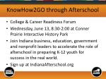 knowhow2go through afterschool