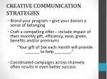 creative communication strategies