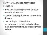 how to acquire monthly donors
