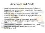 americans and credit