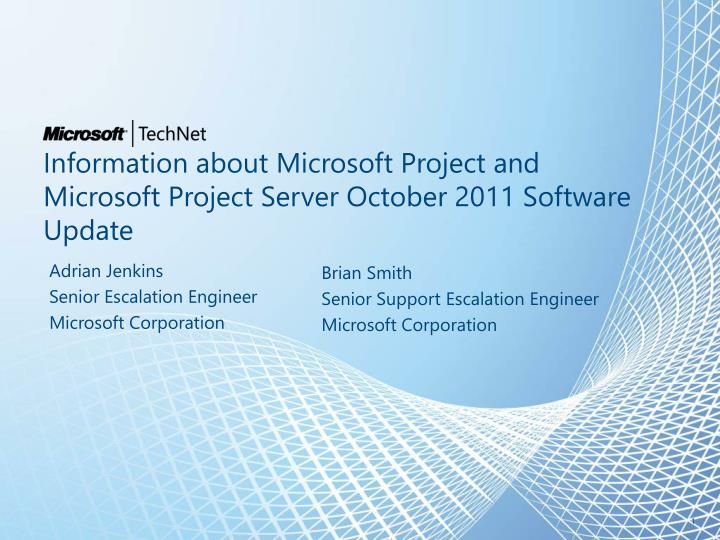 information about microsoft project and microsoft project server october 2011 software update n.
