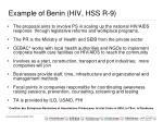 example of benin hiv hss r 9