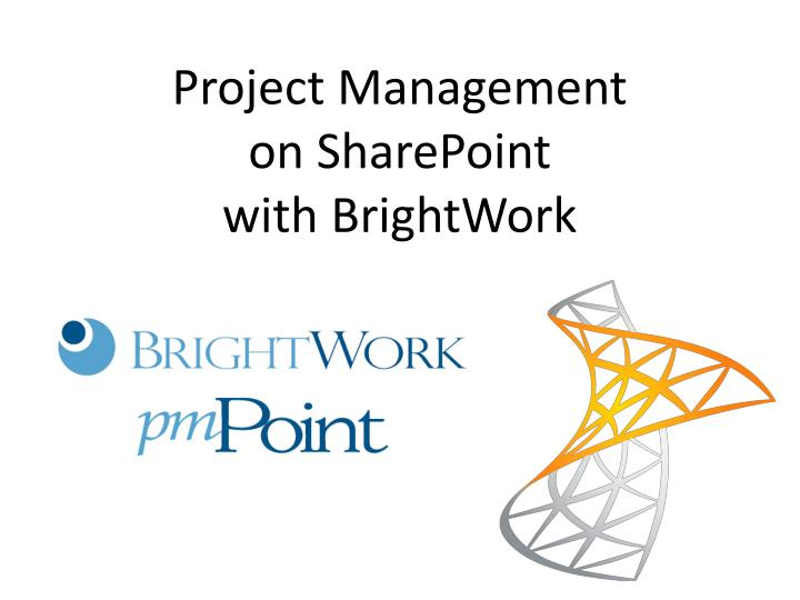project management on sharepoint with brightwork n.