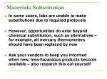materials substitution