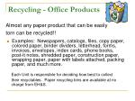 recycling office products