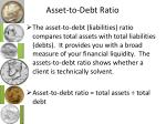 asset to debt ratio