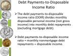debt payments to disposable income ratio
